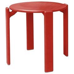 Dietiker Rey Stool, Red, Mid-Century Modern, Designed by Bruno Rey, 1971