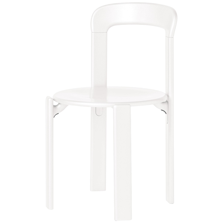 Dietiker Rey, White Dining Chair, Designed by Bruno Rey in 1971
