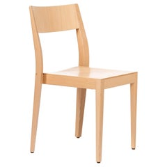Dietiker Soma Minimalist Dining Chair in Beech Wood Designed by Thomas Albrecht