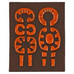 Dietlinder Hein for Danish Knabstrup Abstract Art Pottery Wall Tile