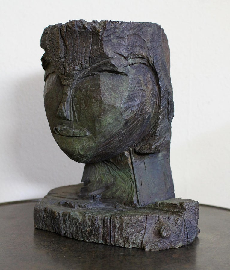 Dietrich Klinge Bronze Head In Excellent Condition For Sale In Encino, CA