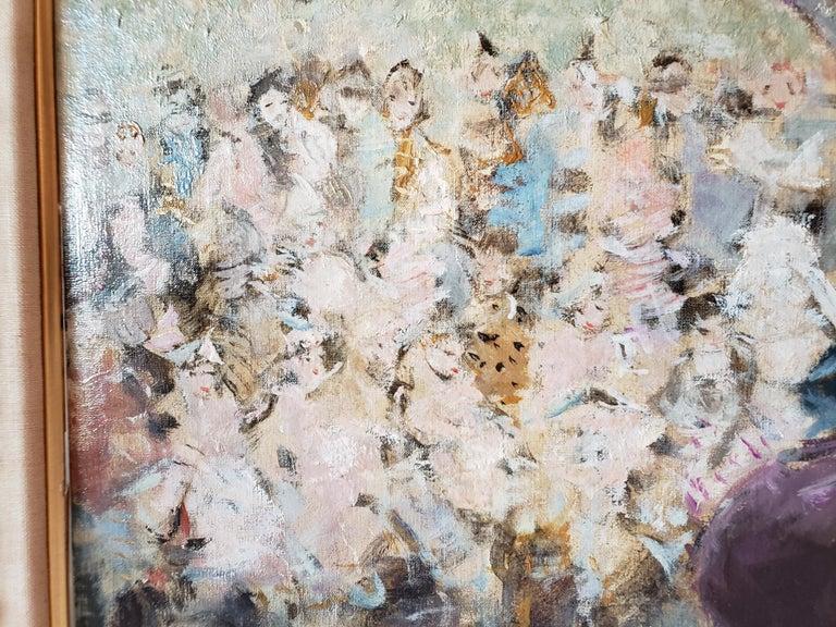 Au Bal Masque - Spanish girl at Opera  - Brown Portrait Painting by Dietz Edzard