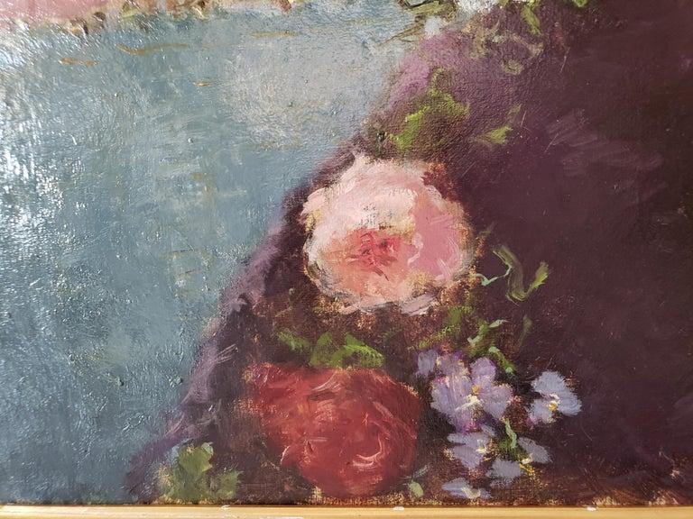 Au Bal Masque - Spanish girl at Opera - Like Degas - Post-Impressionist Painting by Dietz Edzard