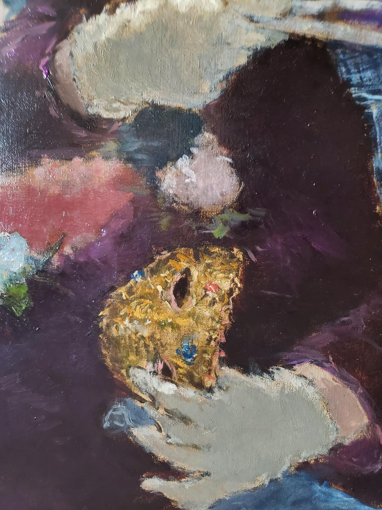 Au Bal Masque - Spanish girl at Opera - Like Degas For Sale 1