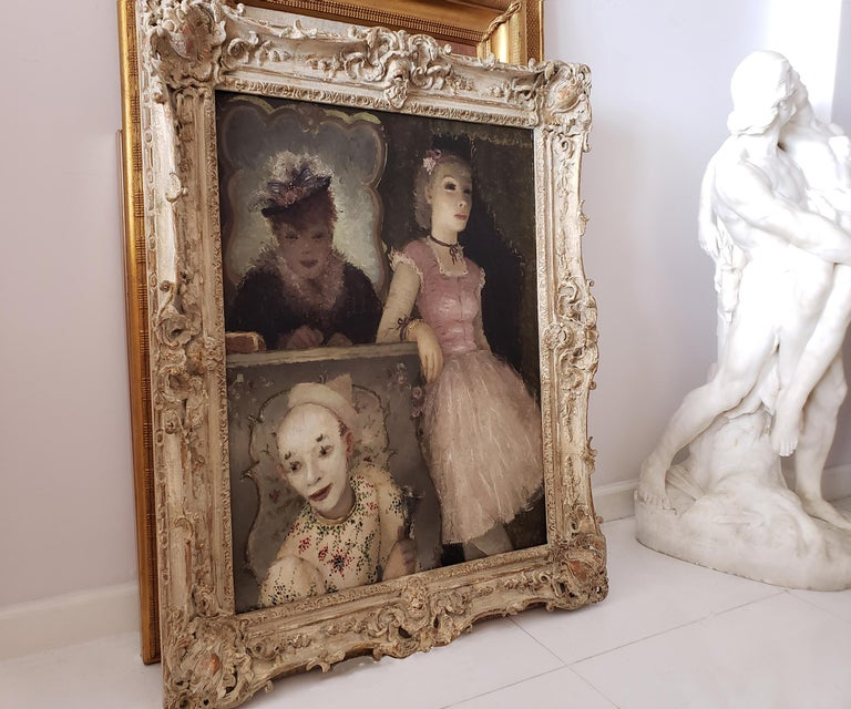 Ballerina, Clown and  Festival Performers Like Degas For Sale 5