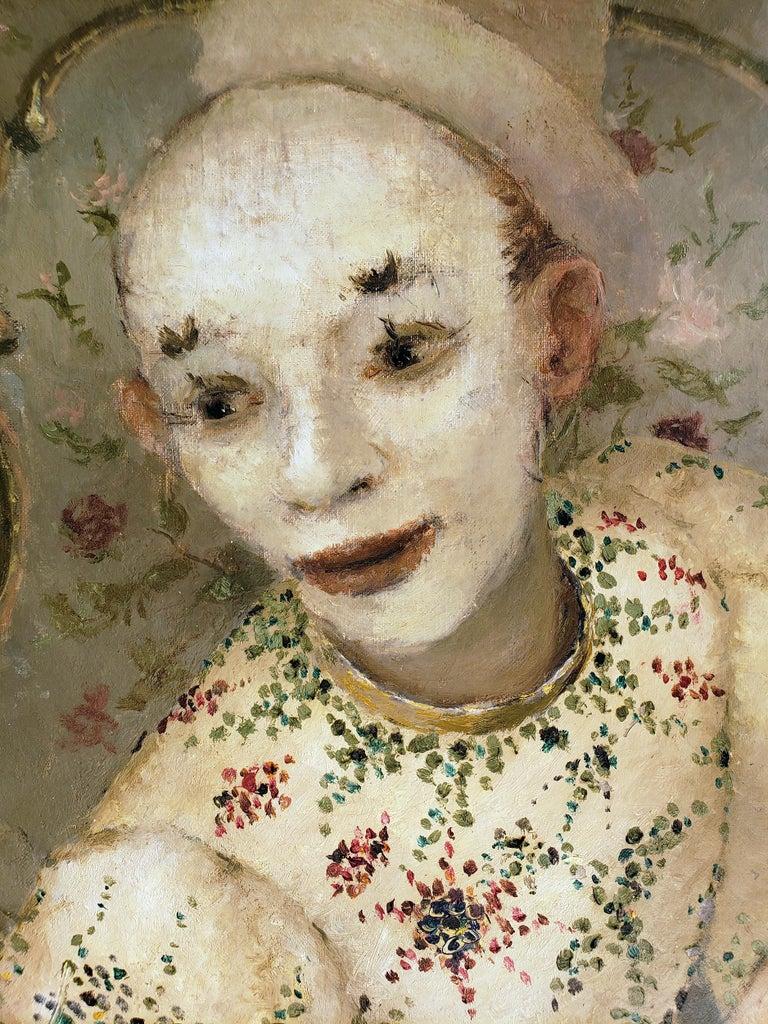 Ballerina, Clown and  Festival Performers Like Degas - Black Figurative Painting by Dietz Edzard
