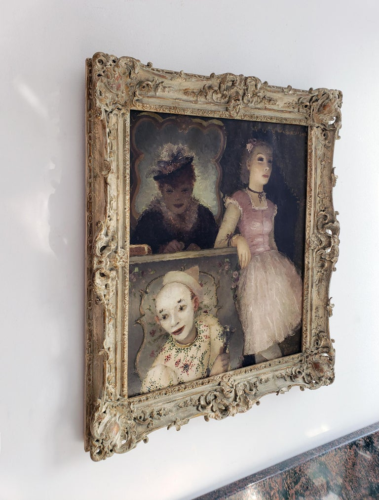 Ballerina, Clown and  Festival Performers Like Degas For Sale 1