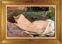 "Dietz Edzard ""Sleeping Nude, 1929"" Oil on Canvas 23 x 34 3/4"