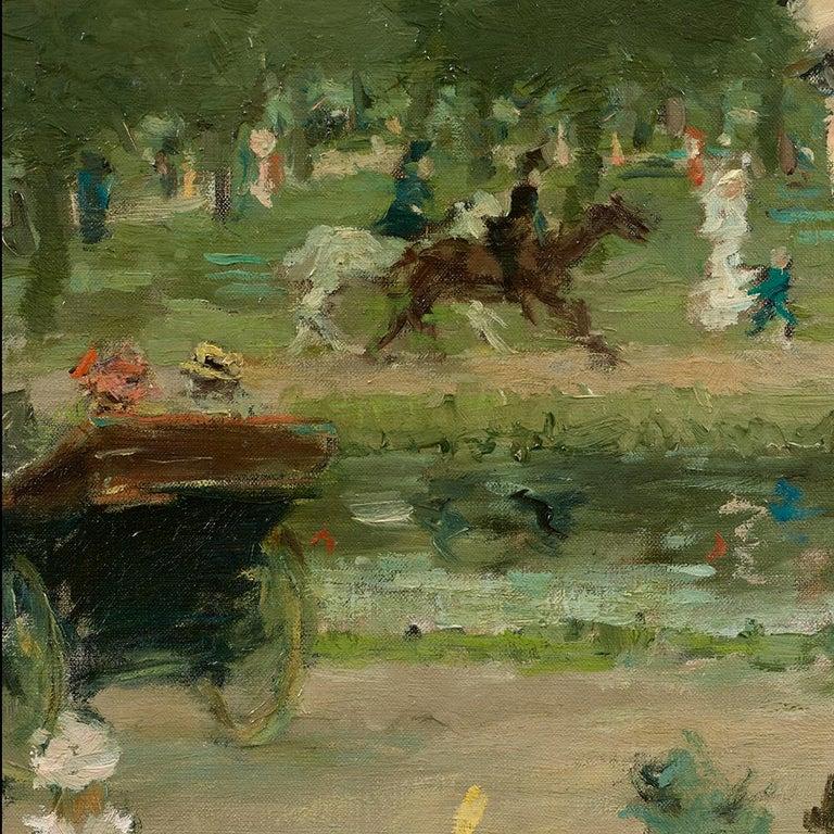 Femme sur une terrasse - Post-Impressionist Painting by Dietz Edzard
