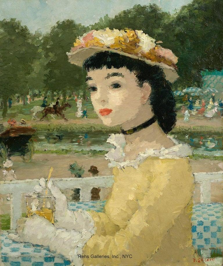 Dietz Edzard Portrait Painting - Femme sur une terrasse
