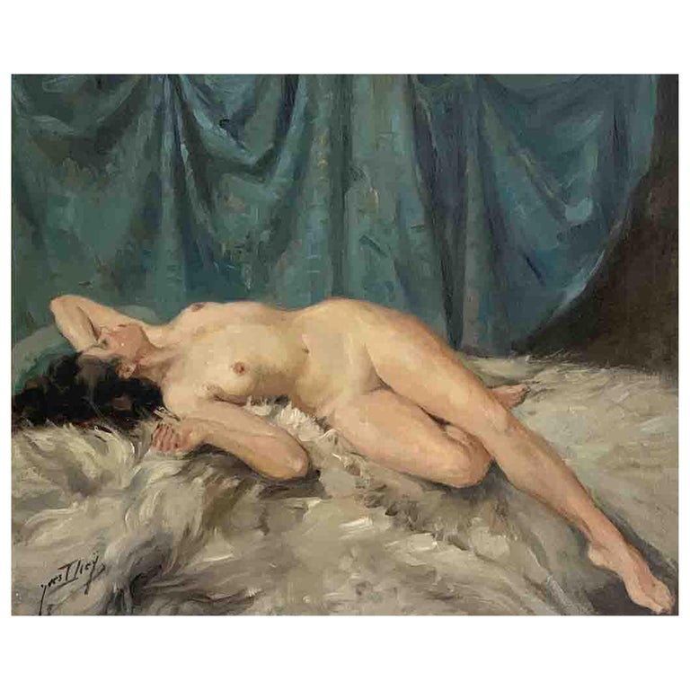 """Diey Yves """"Nude lying down"""" For Sale"""