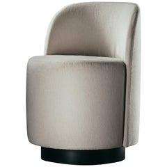 Dig It Chair in Ivory Wool Velvet