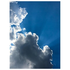Clouds with Sun Rays Digital Photographic Print by Dave Lasker