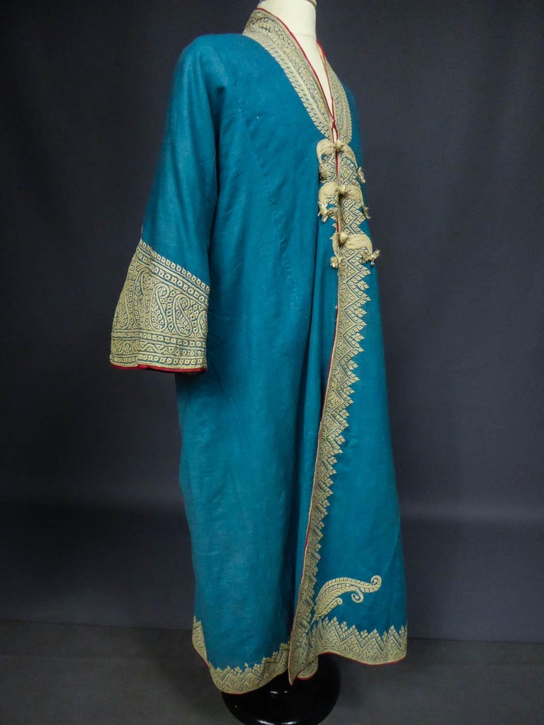 Dignitary coat or Choga - Indes Punjab 19th century For Sale 5