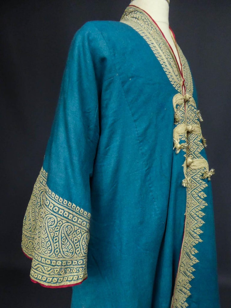 Dignitary coat or Choga - Indes Punjab 19th century For Sale 6