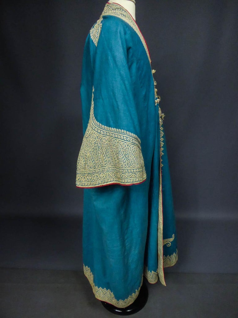 Dignitary coat or Choga - Indes Punjab 19th century For Sale 7