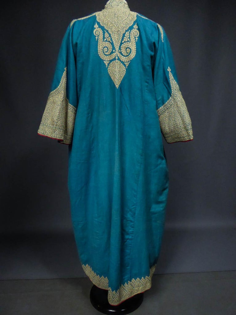 Dignitary coat or Choga - Indes Punjab 19th century For Sale 8
