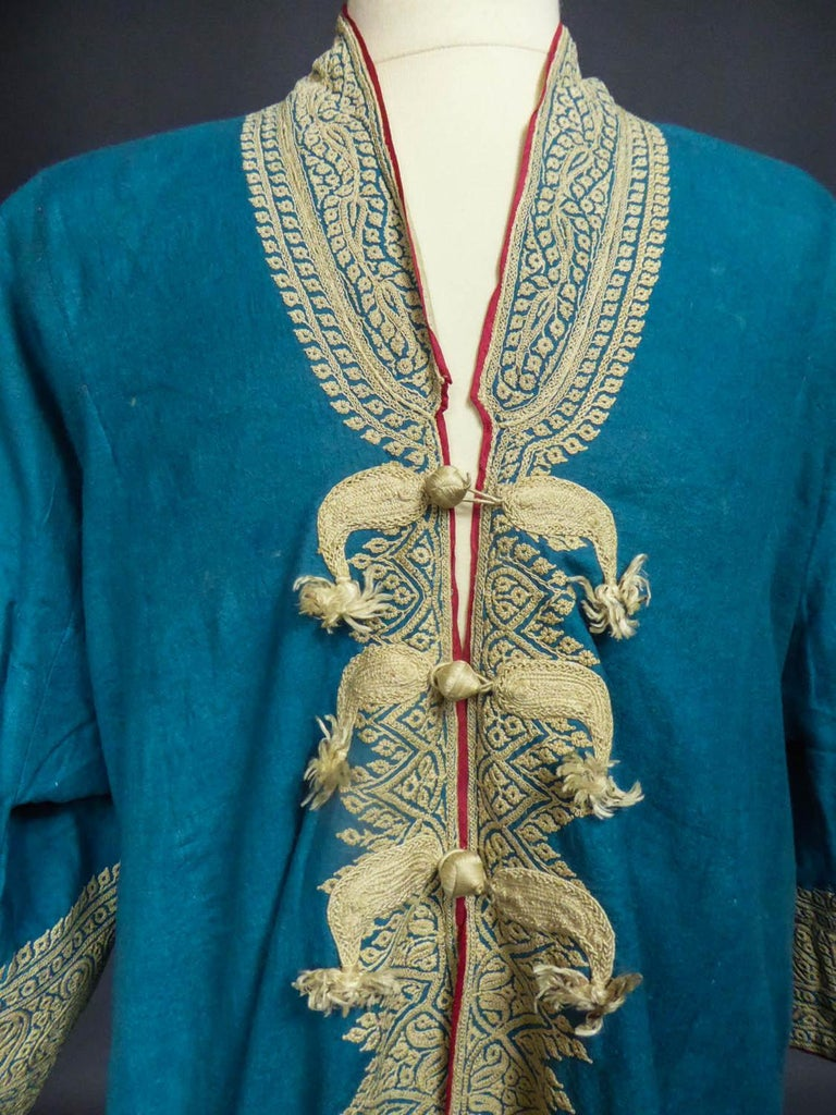 Dignitary coat or Choga - Indes Punjab 19th century In Excellent Condition For Sale In Toulon, FR