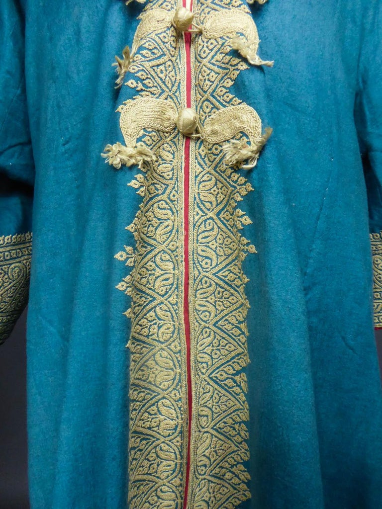 Women's or Men's Dignitary coat or Choga - Indes Punjab 19th century For Sale