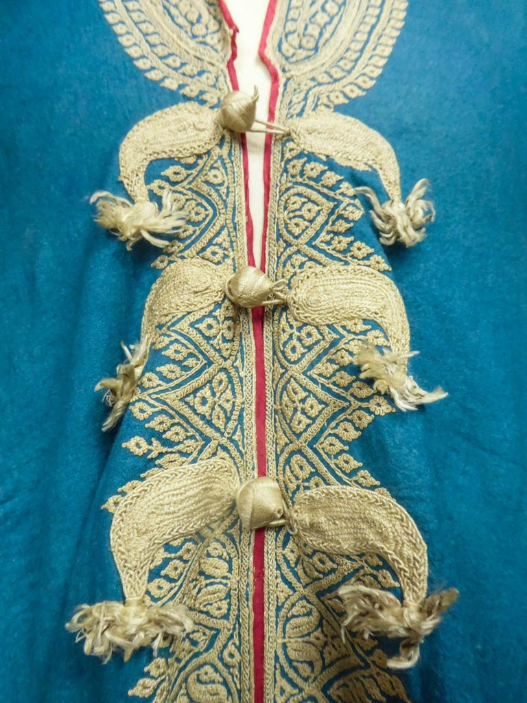 Dignitary coat or Choga - Indes Punjab 19th century For Sale 1