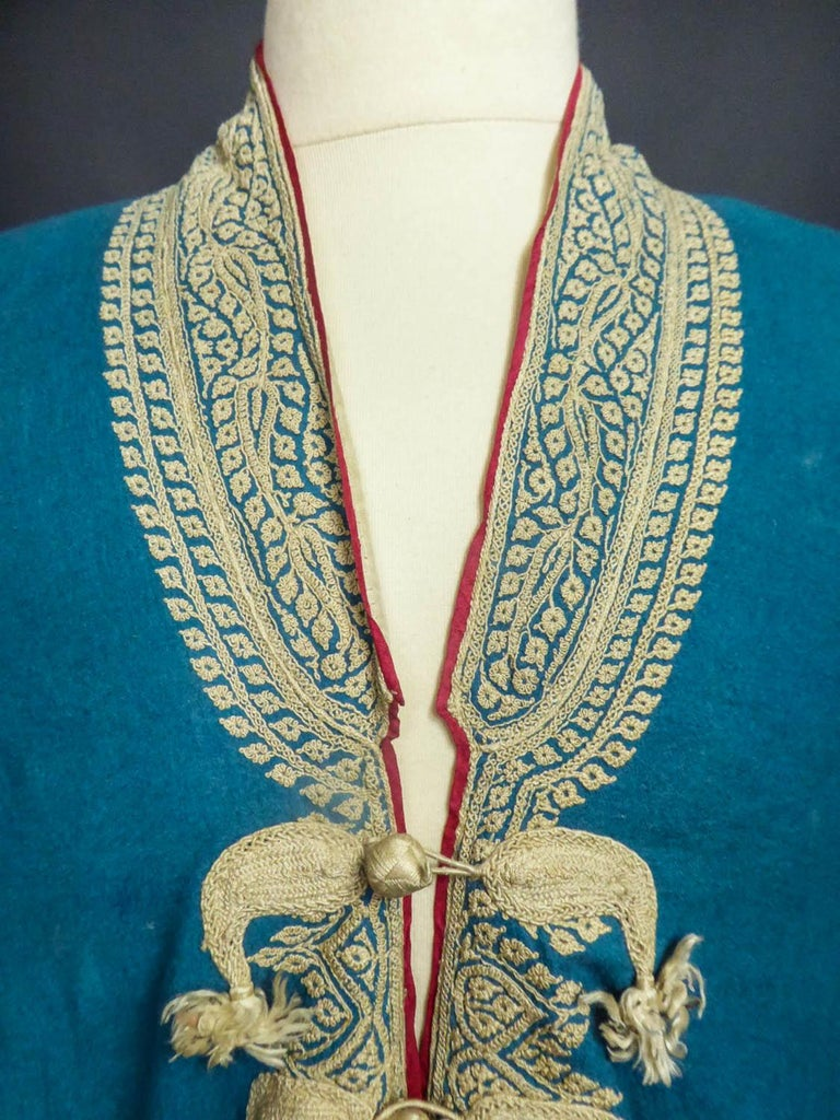 Dignitary coat or Choga - Indes Punjab 19th century For Sale 2