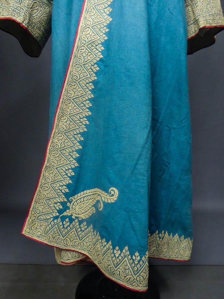 Dignitary coat or Choga - Indes Punjab 19th century For Sale 3