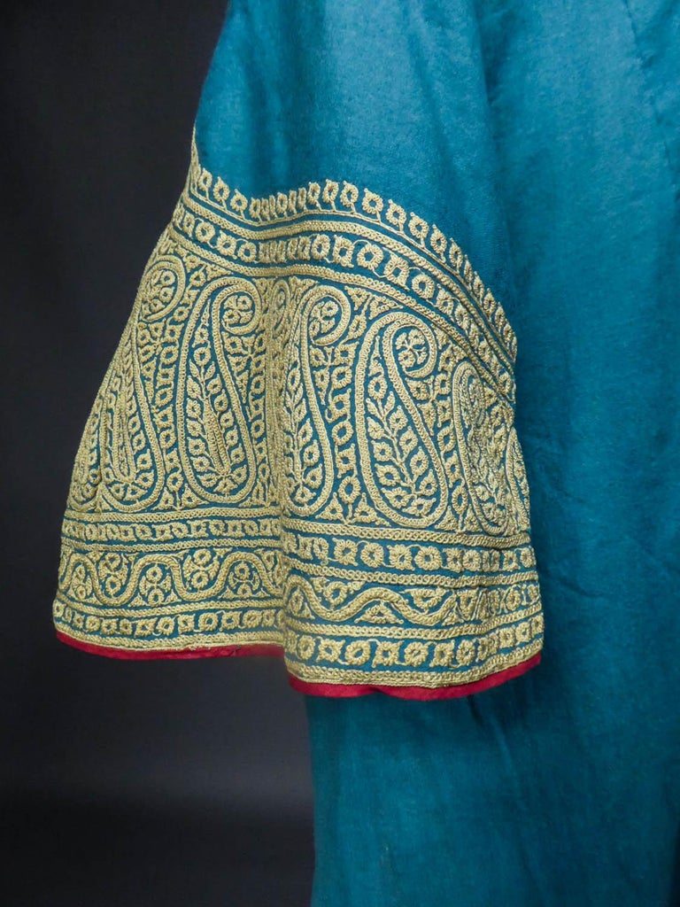 Dignitary coat or Choga - Indes Punjab 19th century For Sale 4