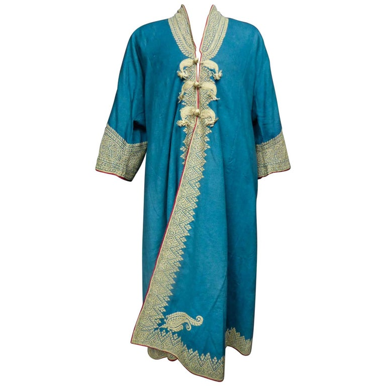 Dignitary coat or Choga - Indes Punjab 19th century For Sale