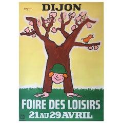 Dijon Foire Des Loisirs by Savignac Original Vintage French Advertising Poster