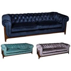 Dijon Velvet Chesterfield Sofa Range, 20th Century