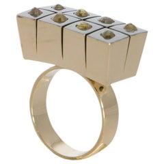 """""""Your Gateway to RARE AIR Zone"""" -- Dijon Yellow Diamond Ring"""