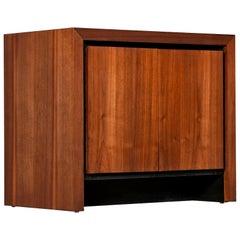 Dillingham Esprit Walnut Commode Cabinet Nightstand, circa 1960s
