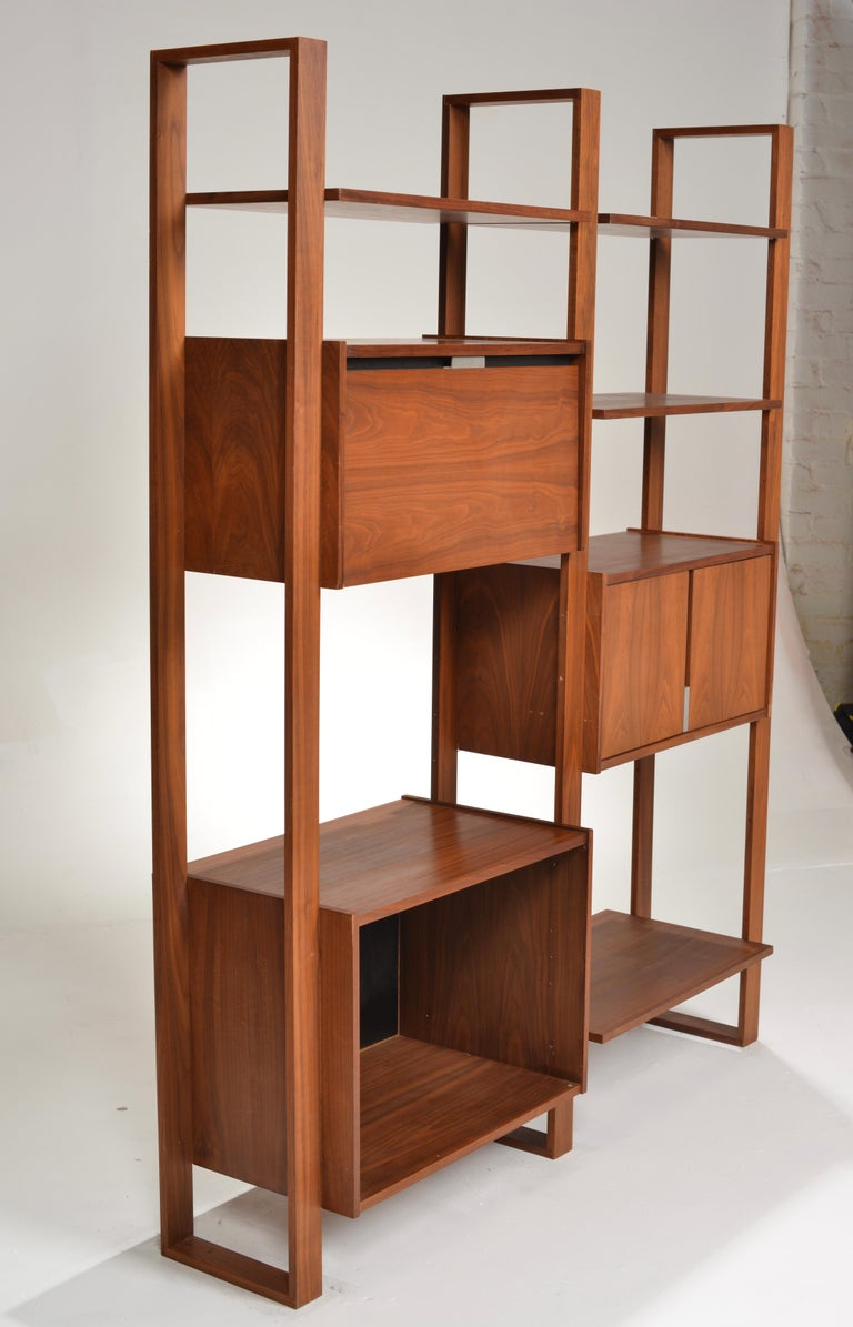 Dillingham Free-Standing Walnut Wall Unit For Sale 3