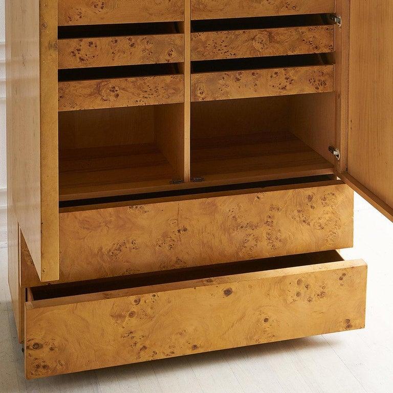 Dillingham Furniture Olive Burl Wood Armoire For Sale 5