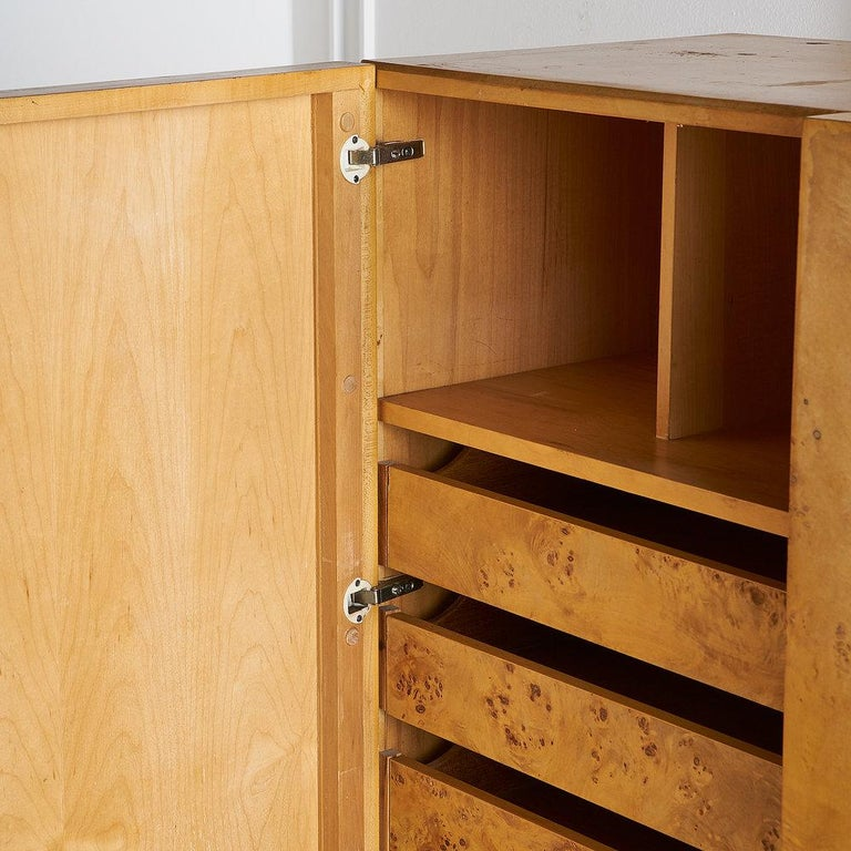 Dillingham Furniture Olive Burl Wood Armoire For Sale 10