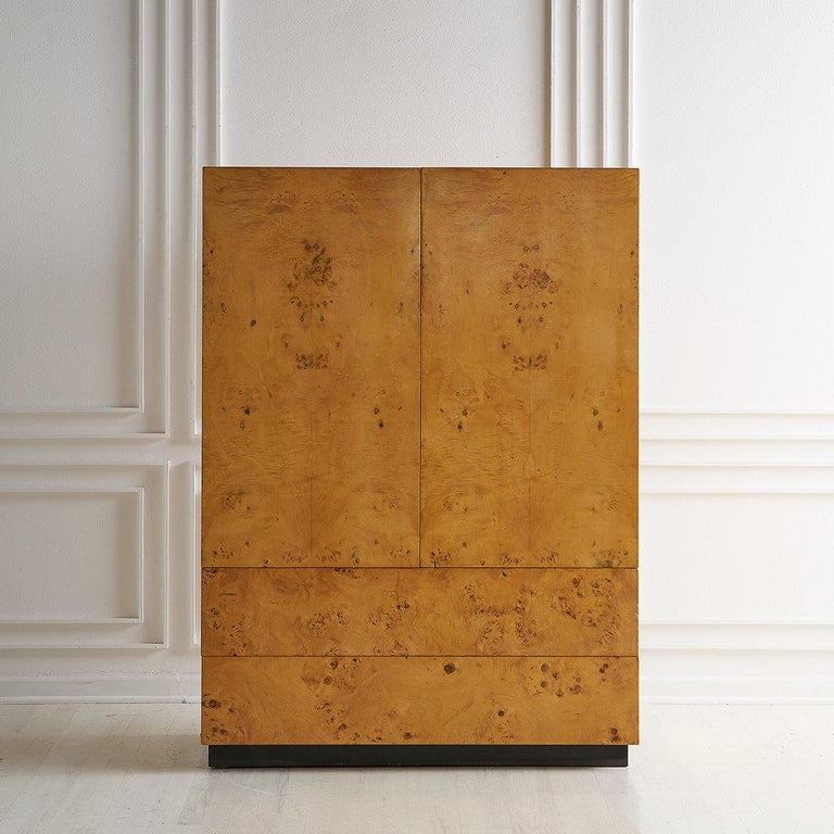 20th Century Dillingham Furniture Olive Burl Wood Armoire For Sale