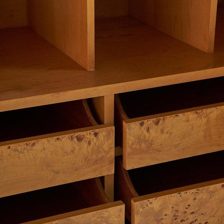 Dillingham Furniture Olive Burl Wood Armoire For Sale 3