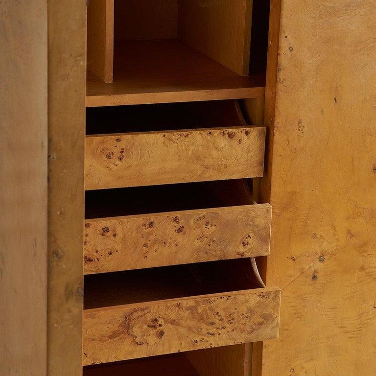 Dillingham Furniture Olive Burl Wood Armoire For Sale 4