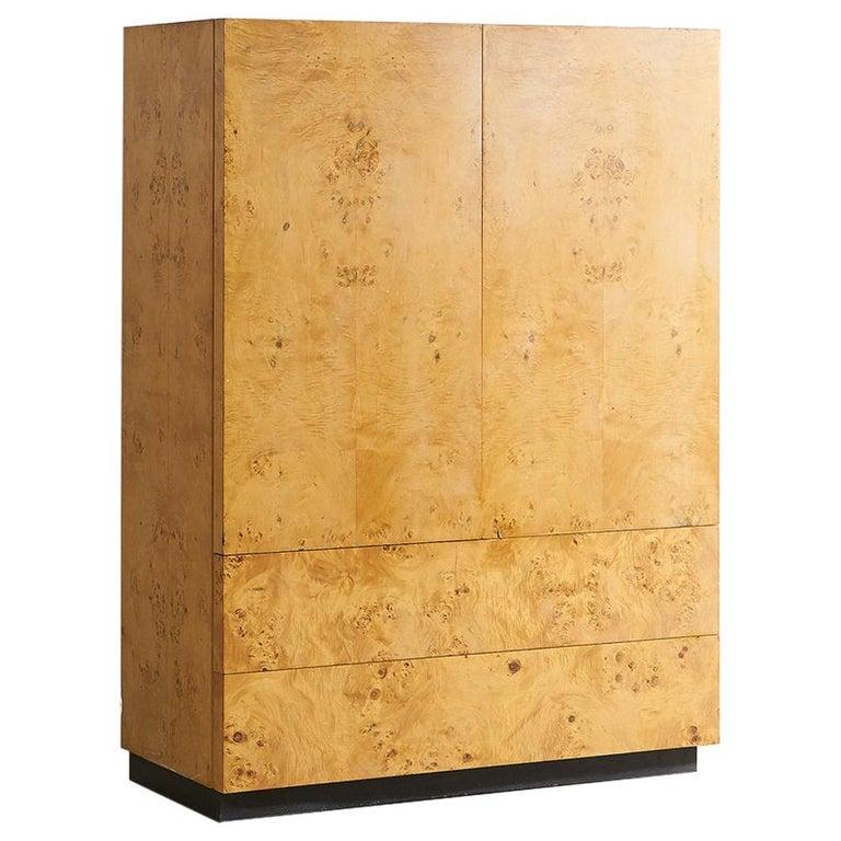 Dillingham Furniture Olive Burl Wood Armoire For Sale