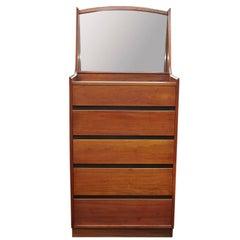 Dillingham Mid-Century Modern Gentleman's Dresser with Built in Mirror