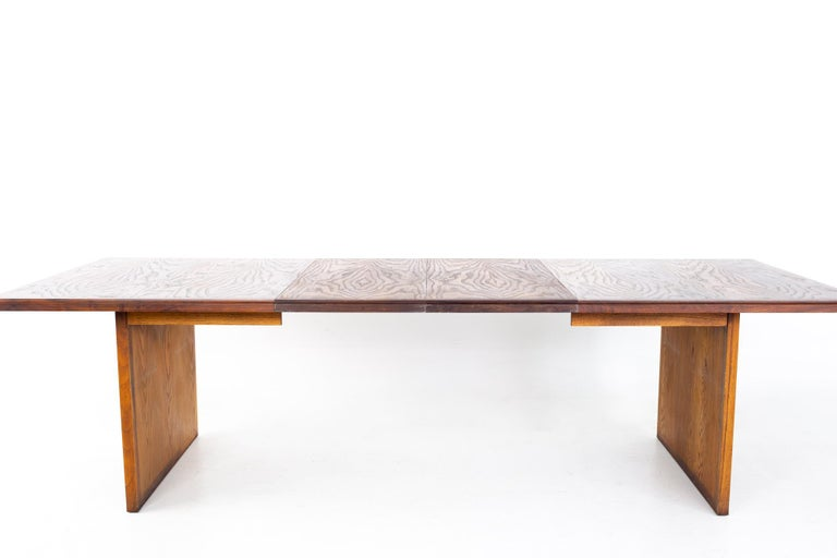 Dillingham Mid Century Pecky Cypress Dining Table For Sale 4