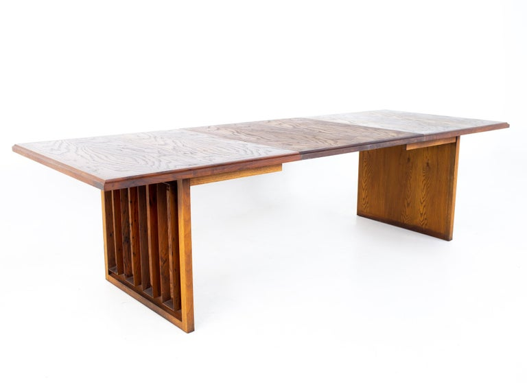 Dillingham Mid Century Pecky Cypress Dining Table For Sale 5