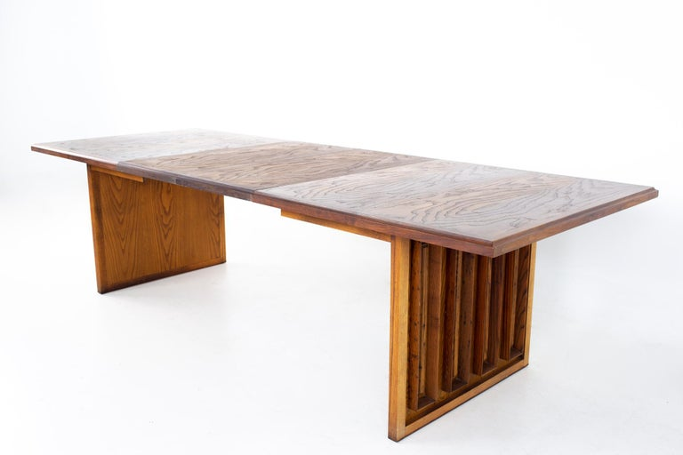 Dillingham Mid Century Pecky Cypress Dining Table For Sale 6