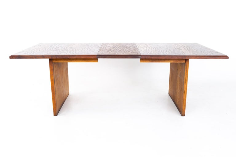 Dillingham Mid Century Pecky Cypress Dining Table For Sale 7