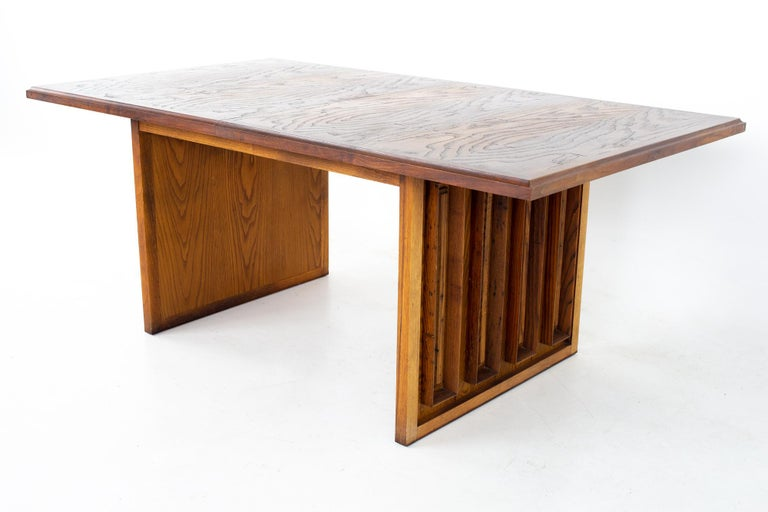 Mid-Century Modern Dillingham Mid Century Pecky Cypress Dining Table For Sale