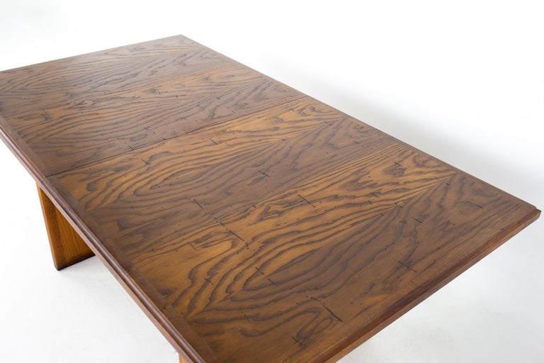 Late 20th Century Dillingham Mid Century Pecky Cypress Dining Table For Sale