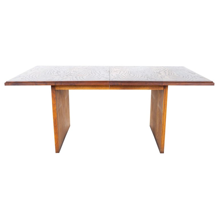 Dillingham Mid Century Pecky Cypress Dining Table For Sale