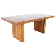 Dillingham Mid Century Walnut Pedestal Expanding Dining Table