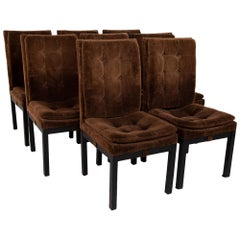 Dillingham Midcentury Upholstered Parsons Dining Chairs, Set of 8
