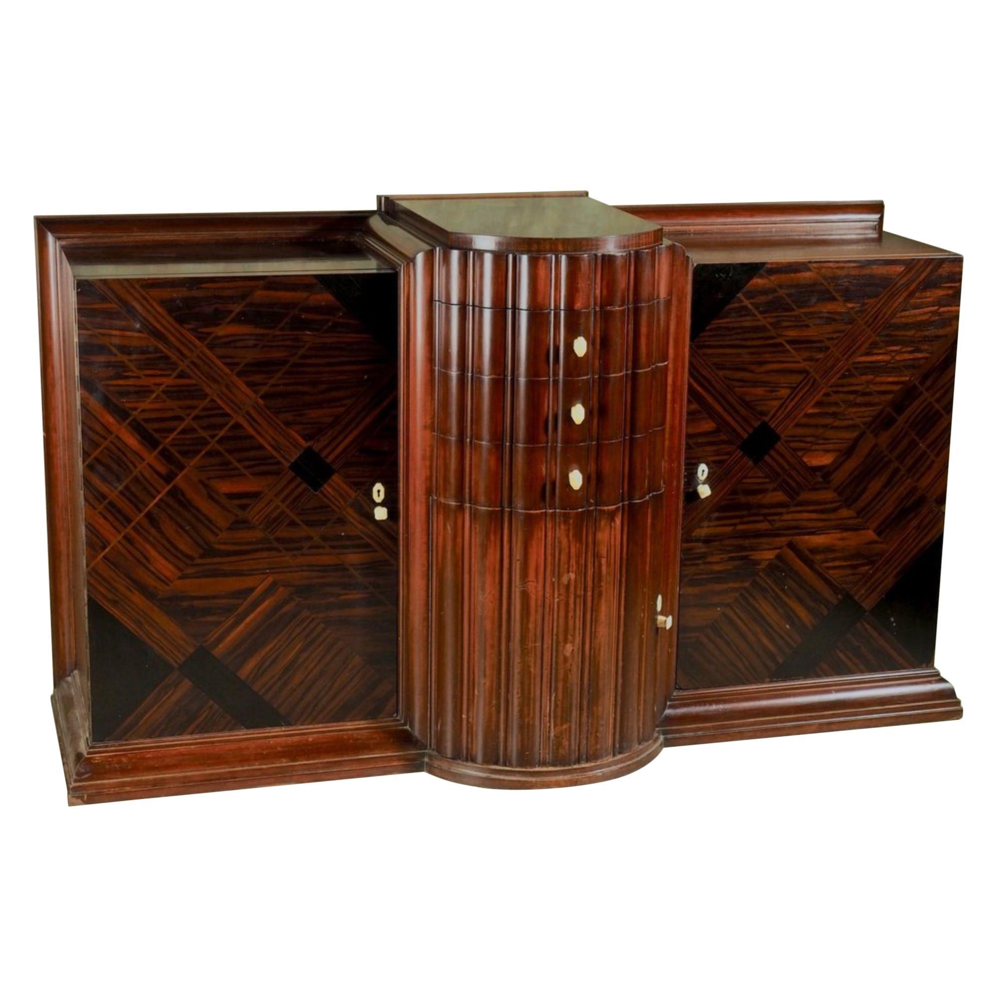 DIM 'Joubert et Petit' 1926 Modernist Cabinet